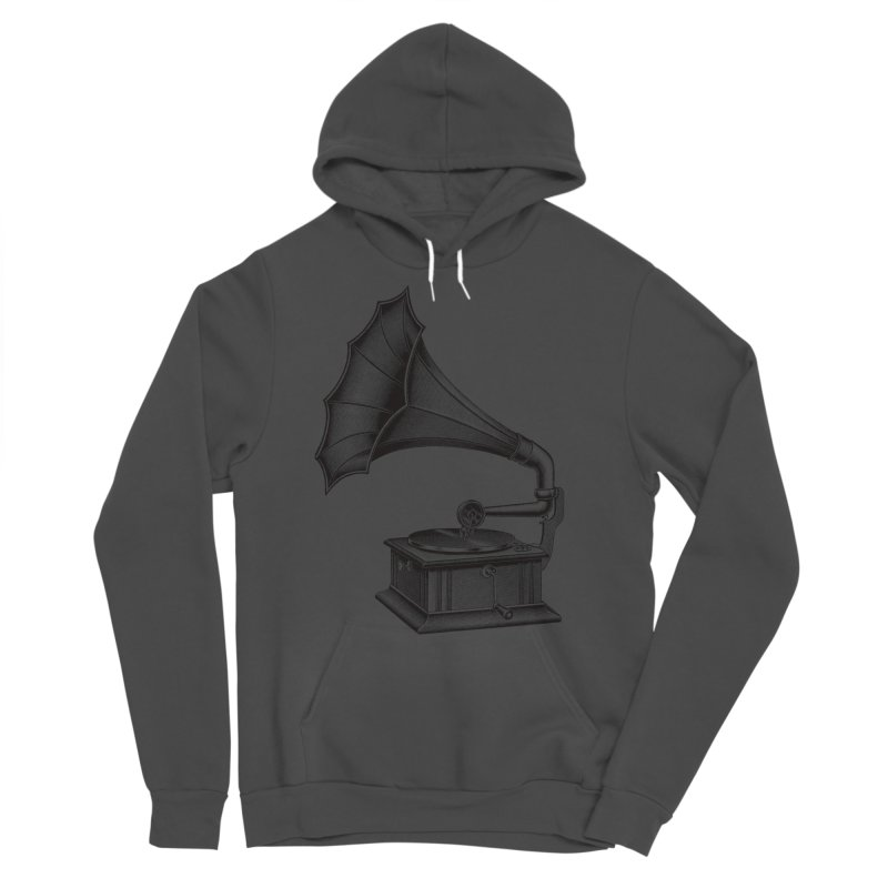 Phonograph Men's Sponge Fleece Pullover Hoody by Mitchell Black's Artist Shop
