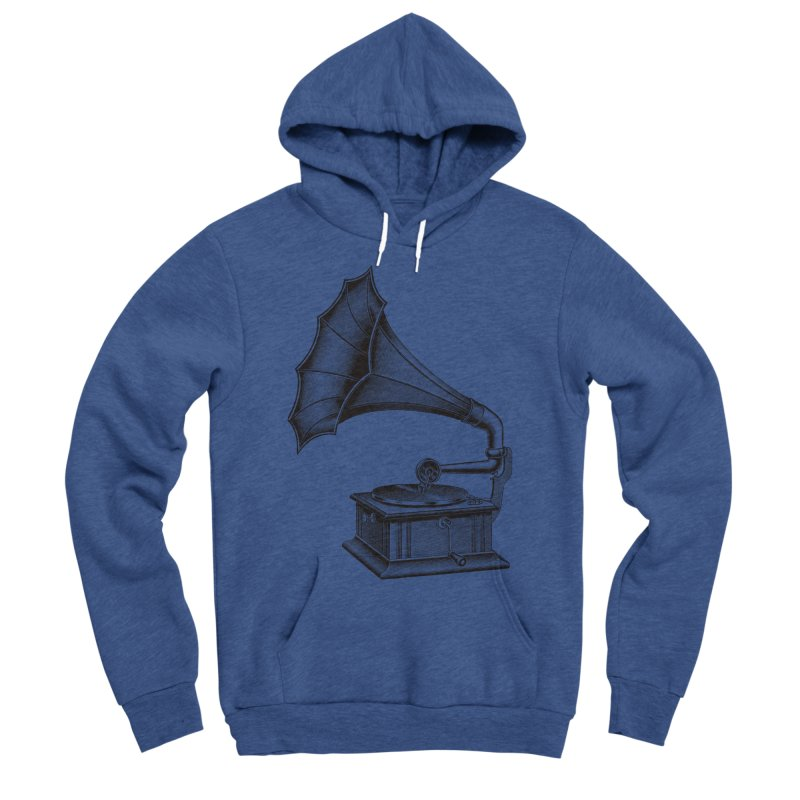 Phonograph Women's Sponge Fleece Pullover Hoody by Mitchell Black's Artist Shop