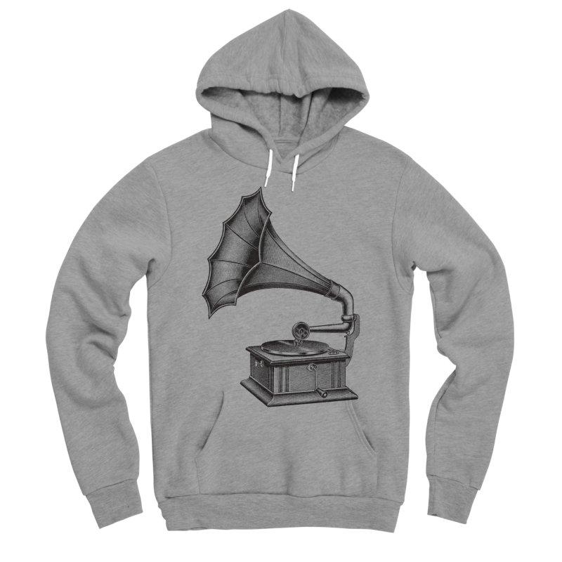 Phonograph Men's Sponge Fleece Pullover Hoody by Mitchell Black's Artist Shop