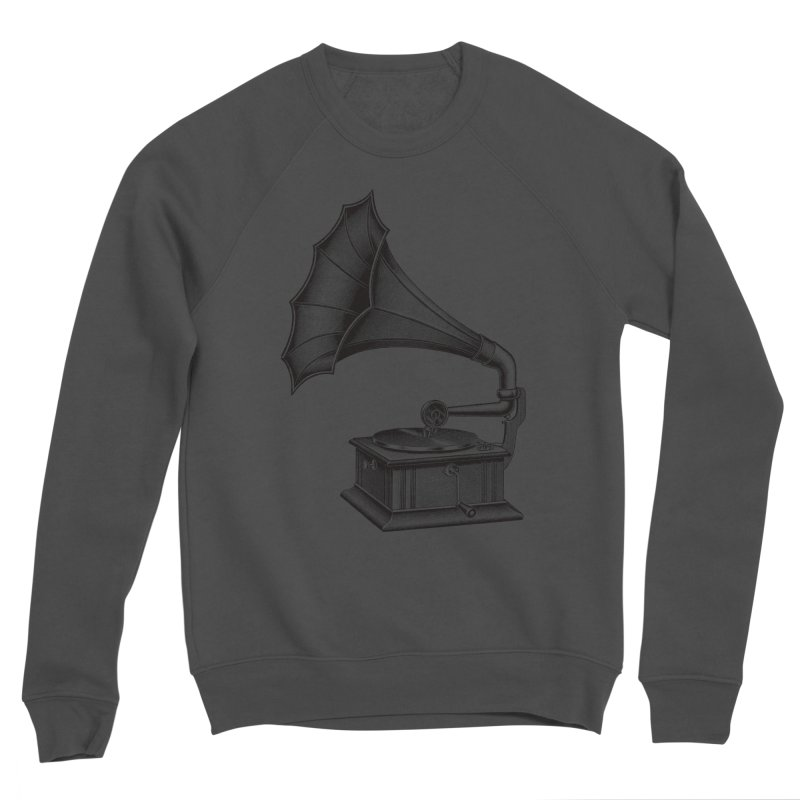 Phonograph Men's Sponge Fleece Sweatshirt by Mitchell Black's Artist Shop