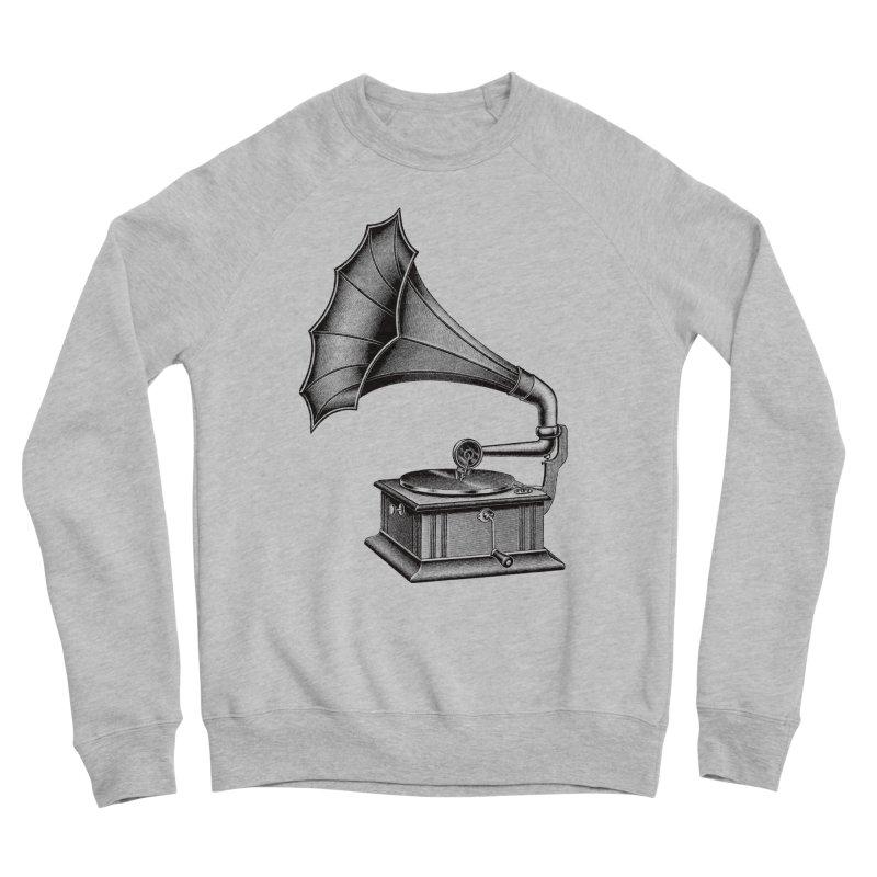 Phonograph Men's Sponge Fleece Sweatshirt by Mitchell Black's Artist Shop