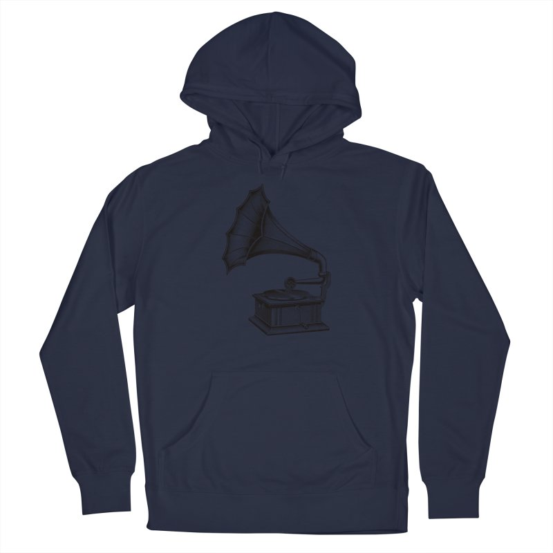 Phonograph Men's Pullover Hoody by Mitchell Black's Artist Shop