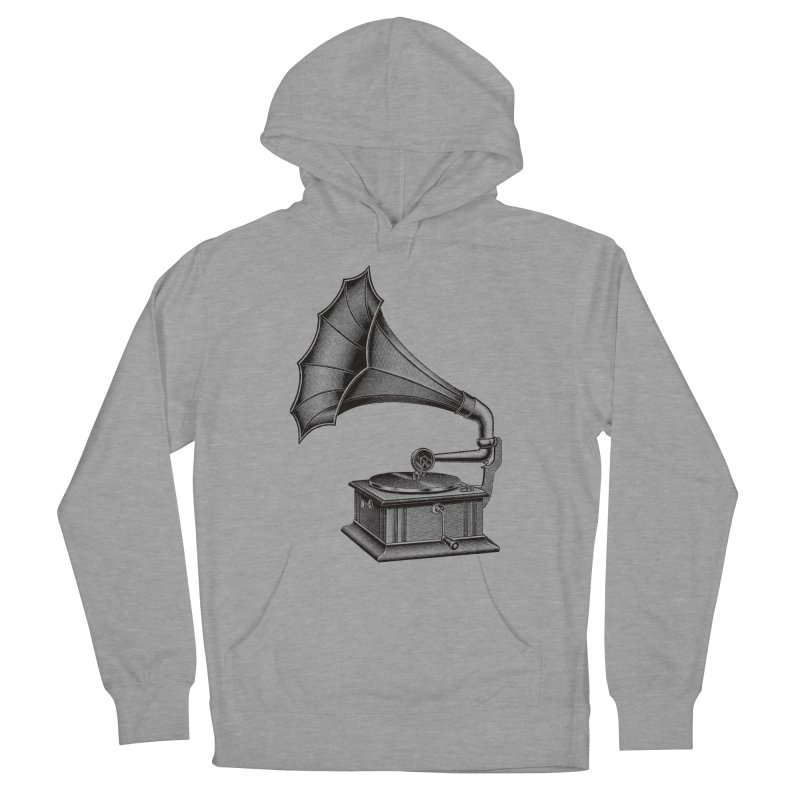 Phonograph Men's French Terry Pullover Hoody by Mitchell Black's Artist Shop