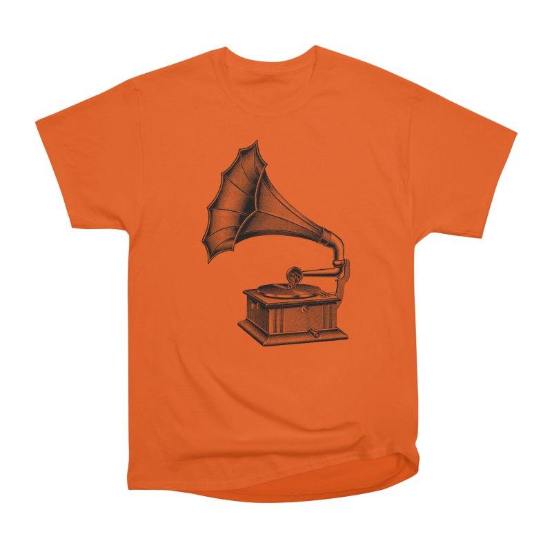 Phonograph Women's Heavyweight Unisex T-Shirt by Mitchell Black's Artist Shop