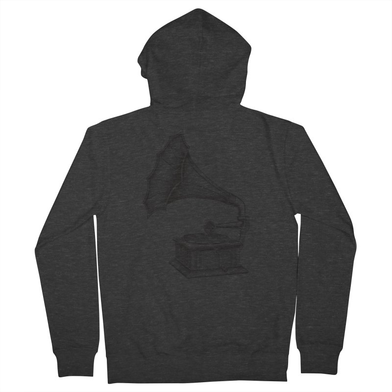 Phonograph Women's French Terry Zip-Up Hoody by Mitchell Black's Artist Shop