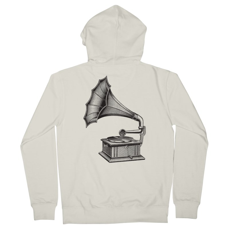 Phonograph Men's French Terry Zip-Up Hoody by Mitchell Black's Artist Shop