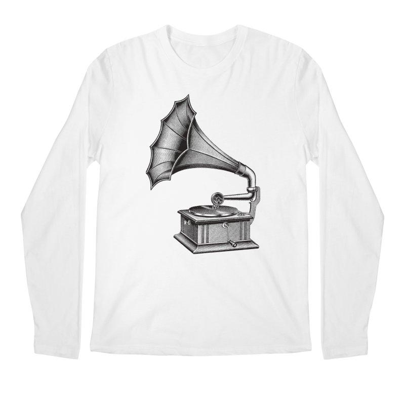 Phonograph Men's Regular Longsleeve T-Shirt by Mitchell Black's Artist Shop