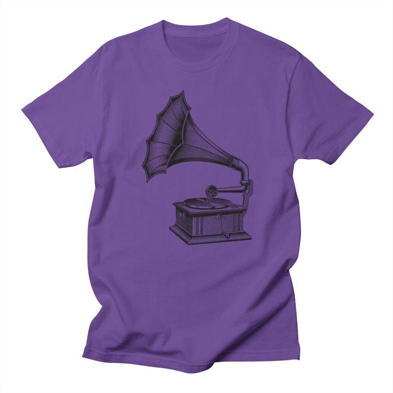 Phonograph Women's Regular Unisex T-Shirt by Mitchell Black's Artist Shop