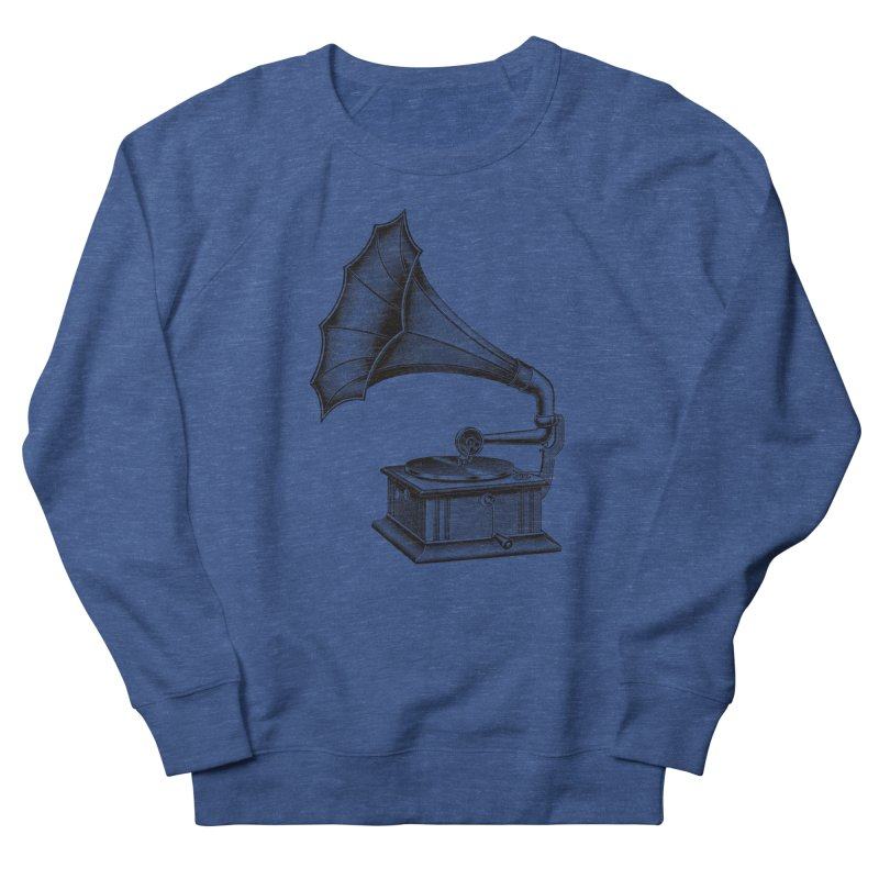 Phonograph Women's French Terry Sweatshirt by Mitchell Black's Artist Shop