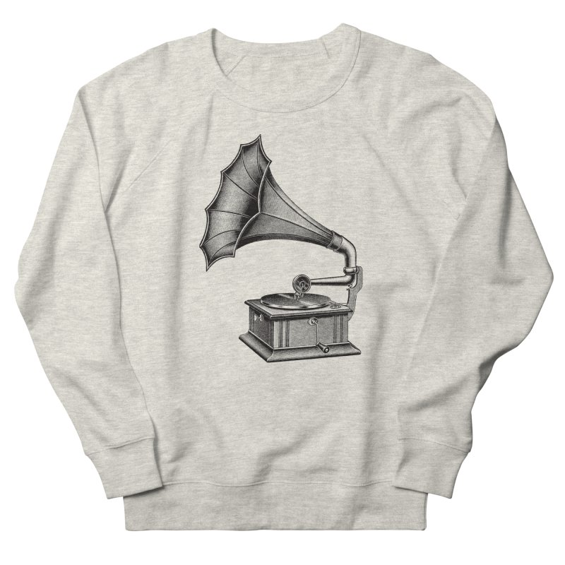 Phonograph Men's French Terry Sweatshirt by Mitchell Black's Artist Shop