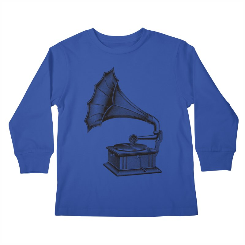 Phonograph Kids Longsleeve T-Shirt by Mitchell Black's Artist Shop