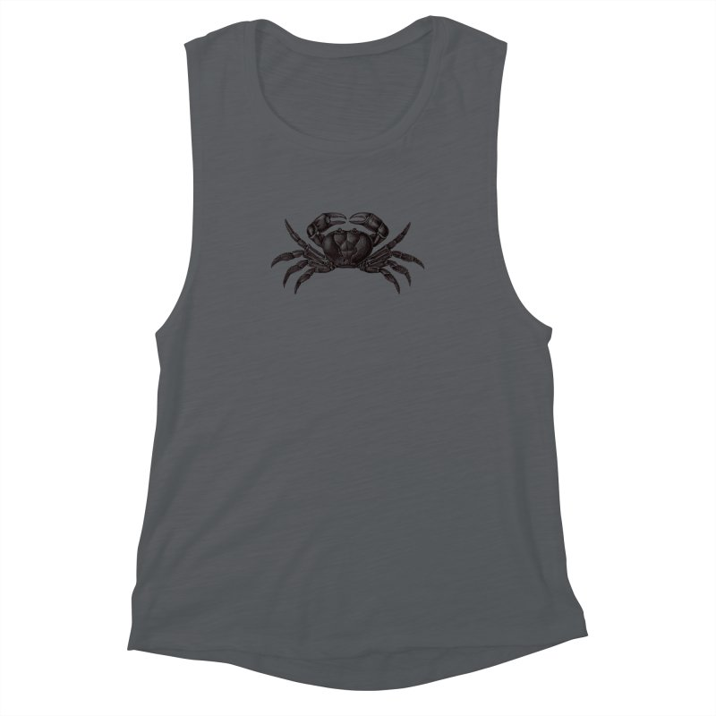 Crabby Women's Muscle Tank by Mitchell Black's Artist Shop