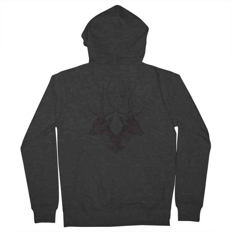 Stag Men's French Terry Zip-Up Hoody by Mitchell Black's Artist Shop