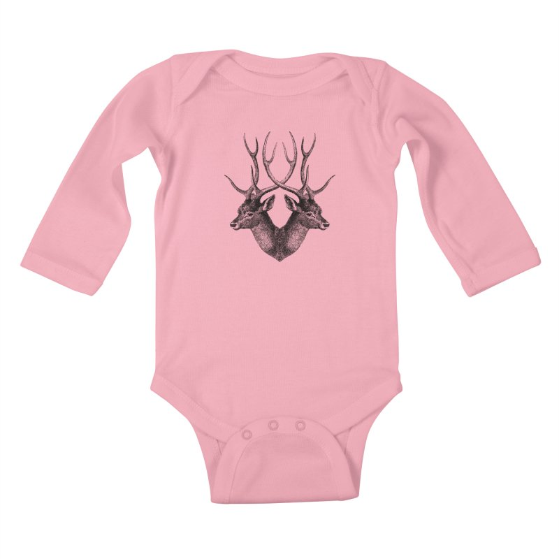 Stag Kids Baby Longsleeve Bodysuit by Mitchell Black's Artist Shop