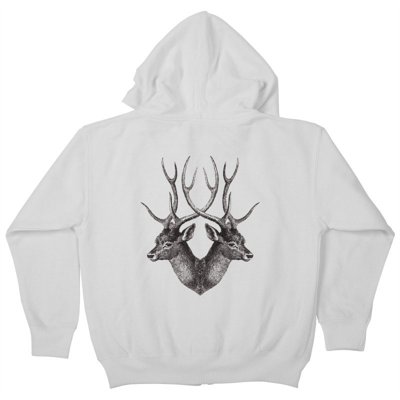 Stag Kids Zip-Up Hoody by Mitchell Black's Artist Shop
