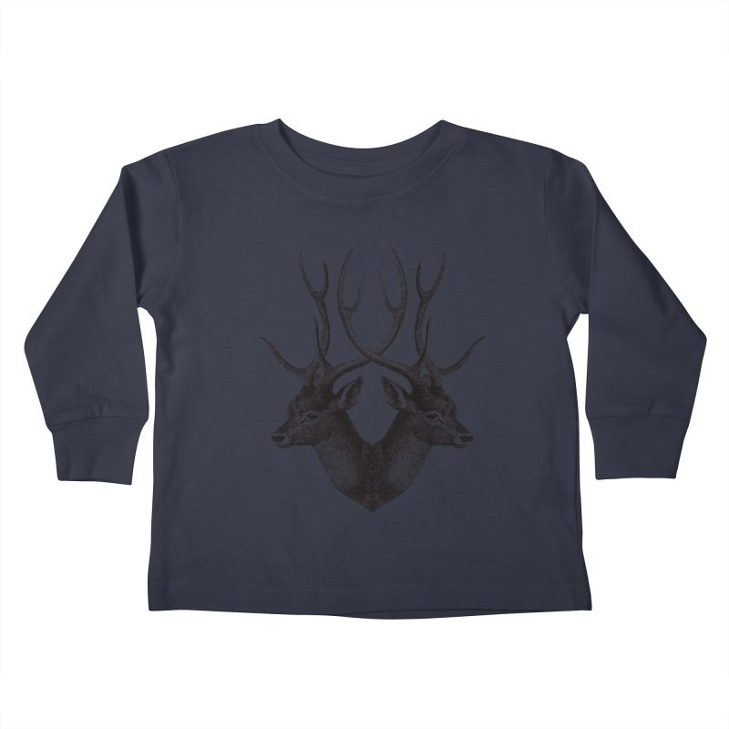 Stag Kids Toddler Longsleeve T-Shirt by Mitchell Black's Artist Shop