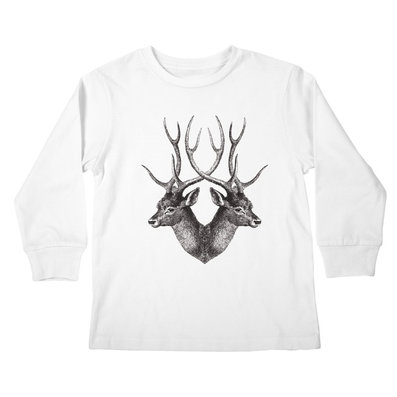 Stag Kids Longsleeve T-Shirt by Mitchell Black's Artist Shop