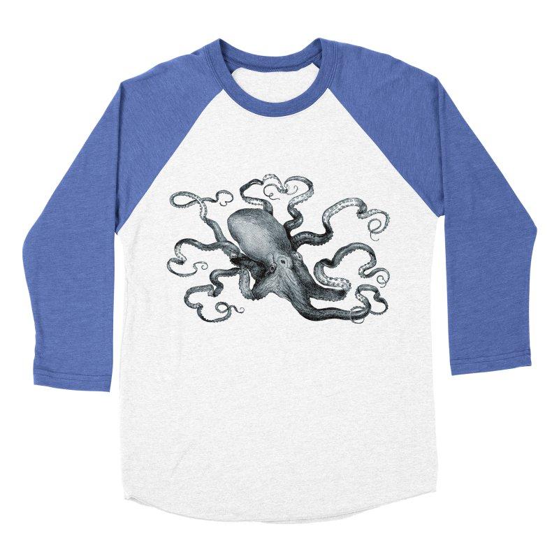 Octopus Women's Baseball Triblend Longsleeve T-Shirt by Mitchell Black's Artist Shop