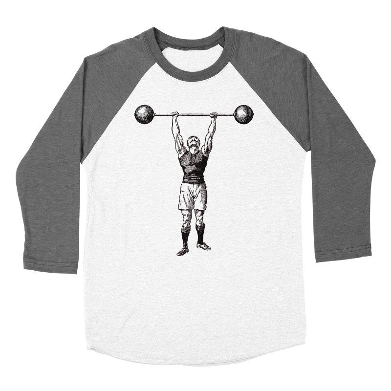 Strong Man Women's Baseball Triblend Longsleeve T-Shirt by Mitchell Black's Artist Shop