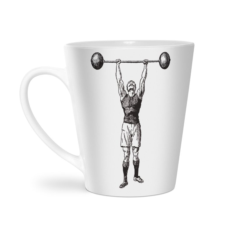 Strong Man Accessories Latte Mug by Mitchell Black's Artist Shop