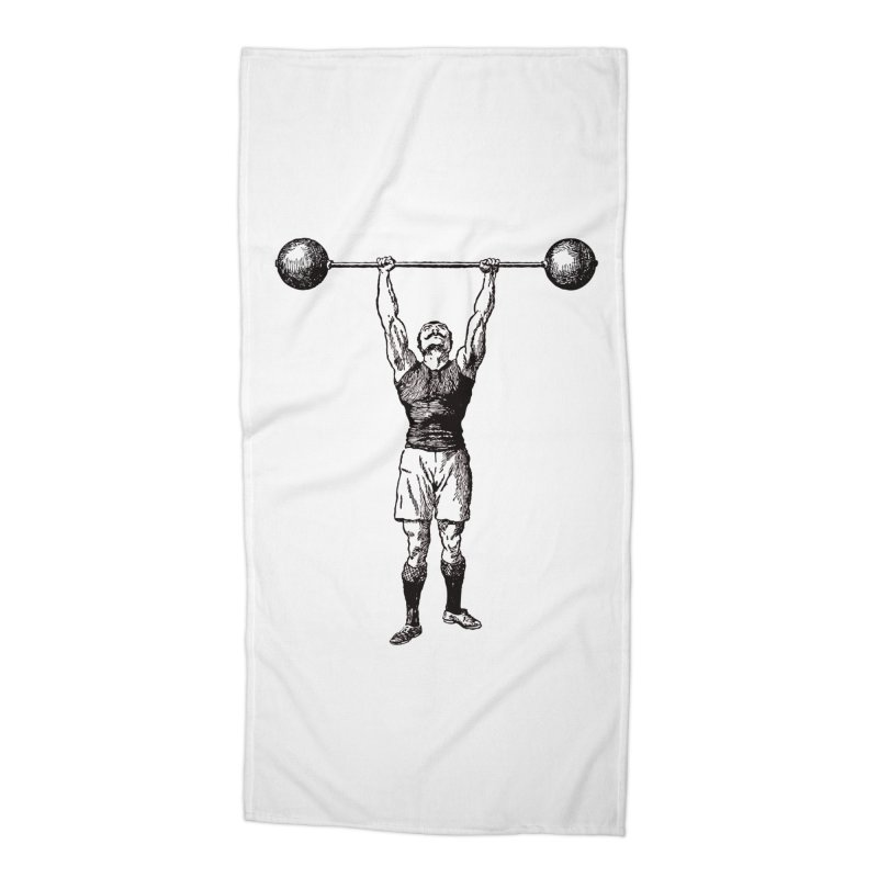 Strong Man Accessories Beach Towel by Mitchell Black's Artist Shop