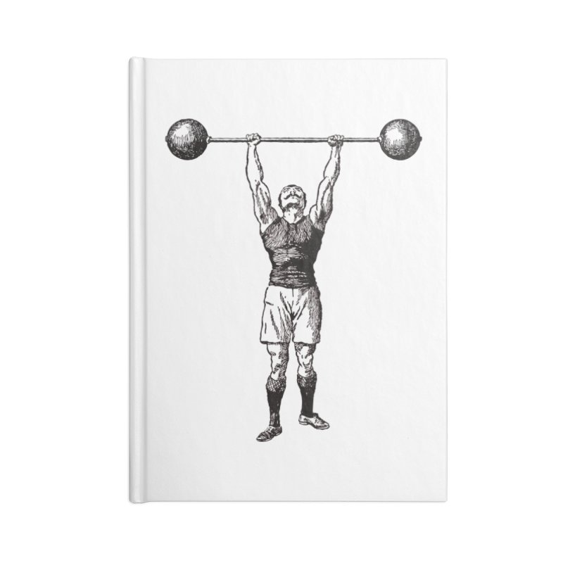 Strong Man Accessories Lined Journal Notebook by Mitchell Black's Artist Shop