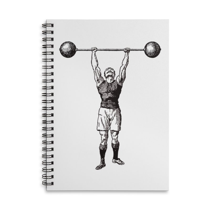 Strong Man Accessories Lined Spiral Notebook by Mitchell Black's Artist Shop