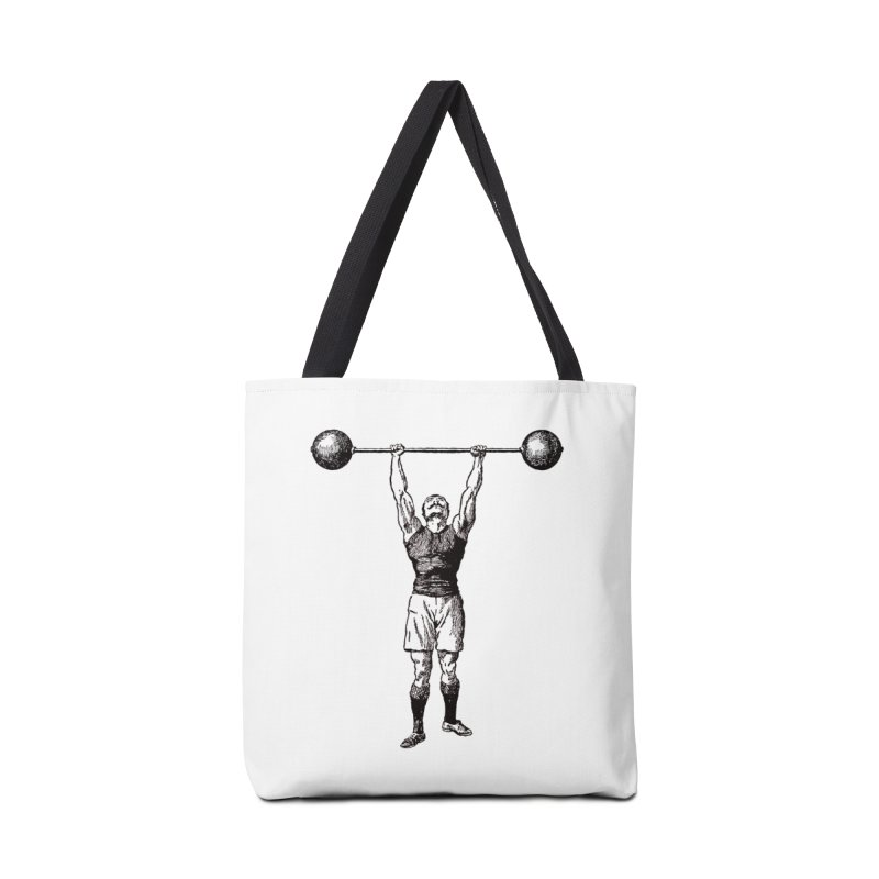 Strong Man Accessories Tote Bag Bag by Mitchell Black's Artist Shop