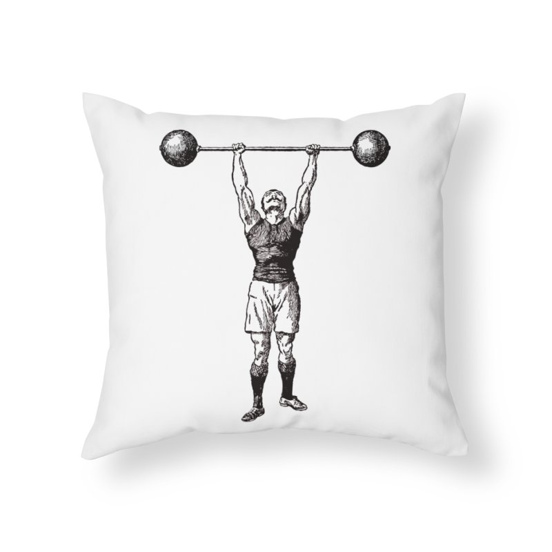 Strong Man Home Throw Pillow by Mitchell Black's Artist Shop