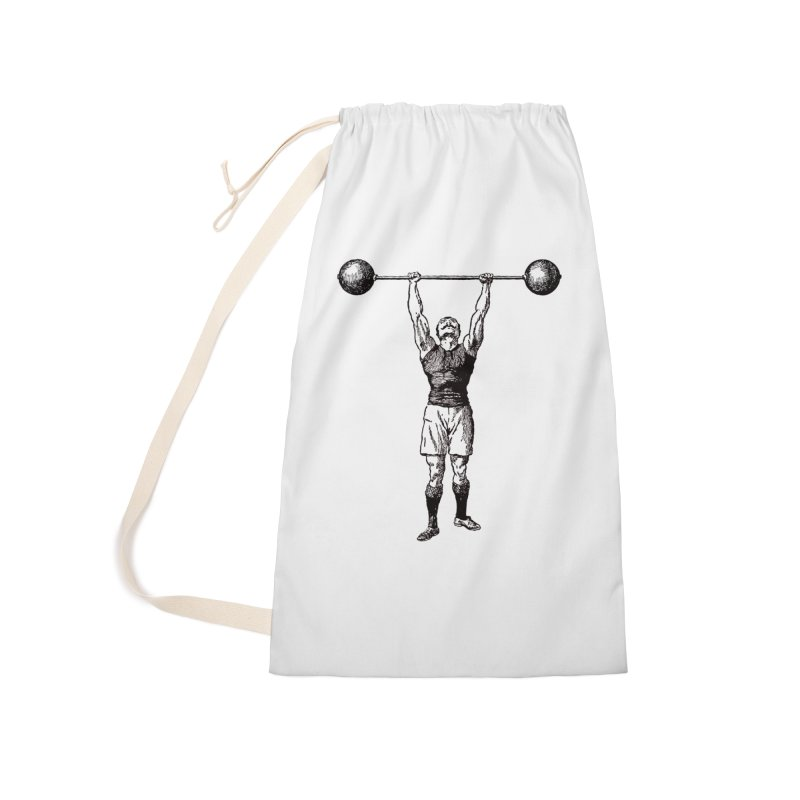 Strong Man Accessories Laundry Bag Bag by Mitchell Black's Artist Shop