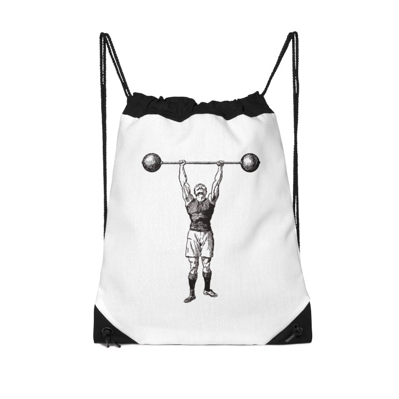 Strong Man Accessories Drawstring Bag Bag by Mitchell Black's Artist Shop