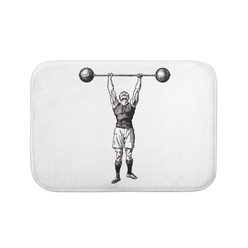 Strong Man Home Bath Mat by Mitchell Black's Artist Shop