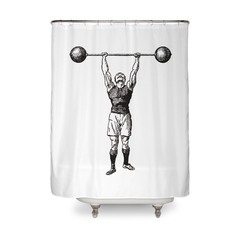 Strong Man Home Shower Curtain by Mitchell Black's Artist Shop