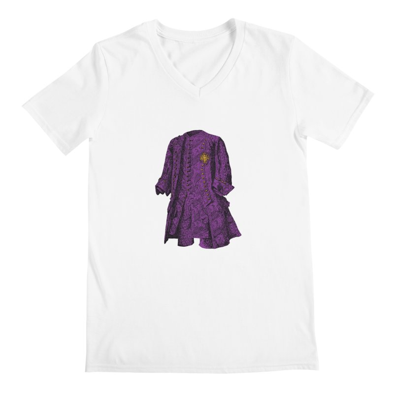 The Purple One Men's Regular V-Neck by Mitchell Black's Artist Shop