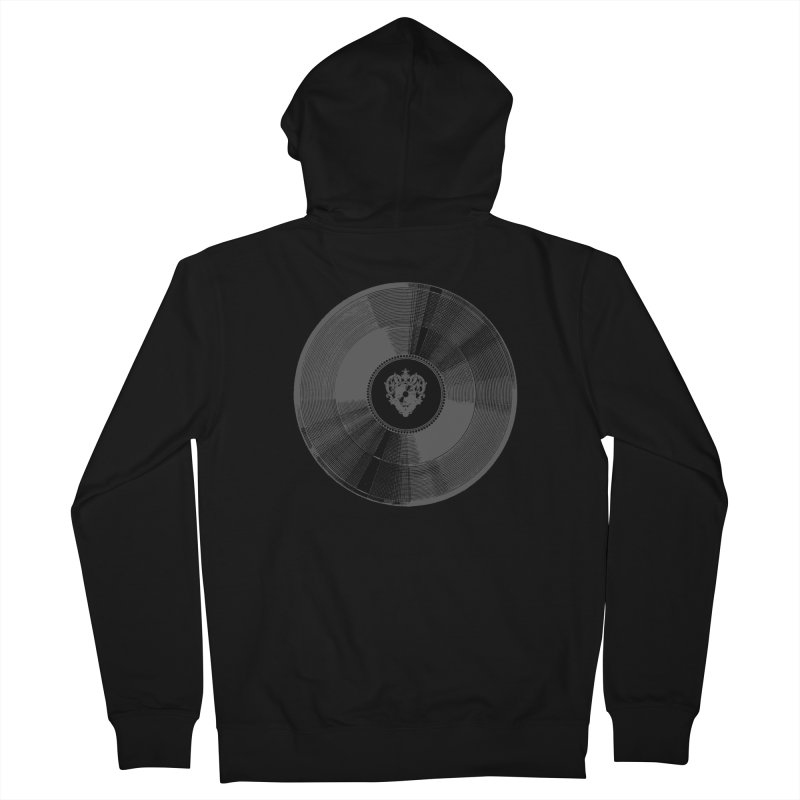 Platinum Record Women's French Terry Zip-Up Hoody by Mitchell Black's Artist Shop