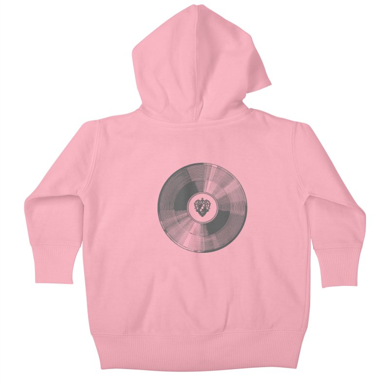 Platinum Record Kids Baby Zip-Up Hoody by Mitchell Black's Artist Shop