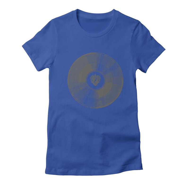 Platinum Record Women's Fitted T-Shirt by Mitchell Black's Artist Shop
