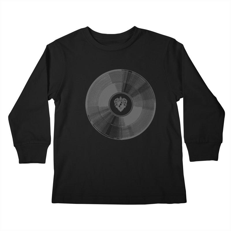 Platinum Record Kids Longsleeve T-Shirt by Mitchell Black's Artist Shop