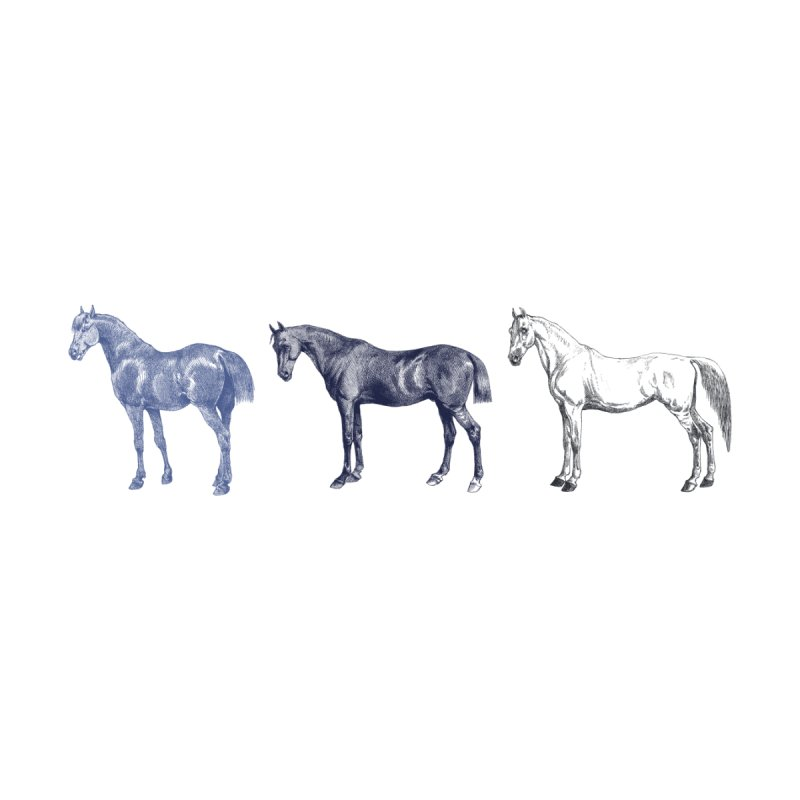 Hold Your Horses blue None  by Mitchell Black's Artist Shop