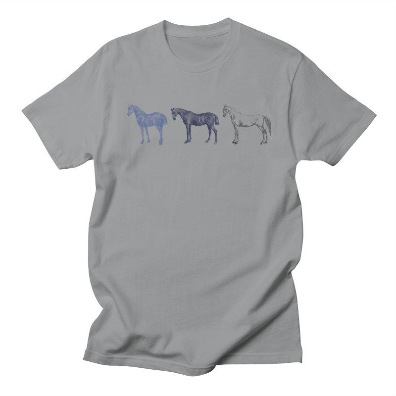 Hold Your Horses blue Men's Regular T-Shirt by Mitchell Black's Artist Shop