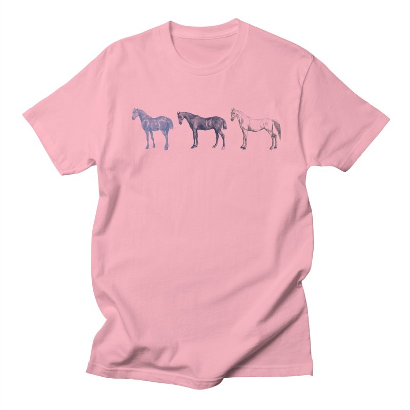 Hold Your Horses blue Men's T-shirt by Mitchell Black's Artist Shop