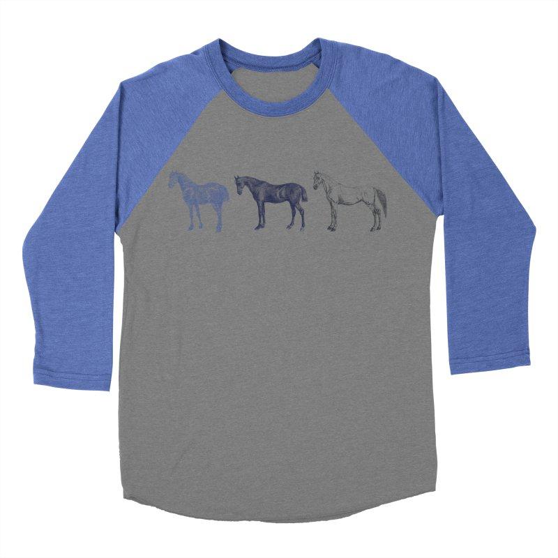 Hold Your Horses blue Women's Baseball Triblend Longsleeve T-Shirt by Mitchell Black's Artist Shop