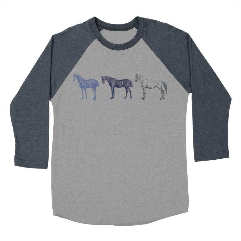 Hold Your Horses blue Women's Baseball Triblend T-Shirt by Mitchell Black's Artist Shop