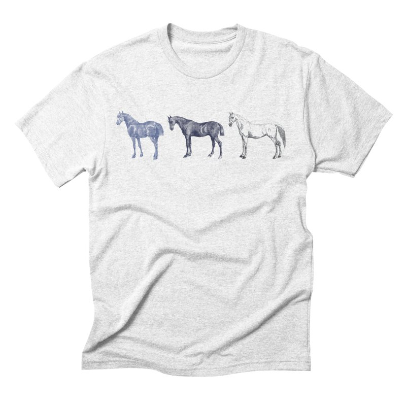 Hold Your Horses blue Men's Triblend T-shirt by Mitchell Black's Artist Shop