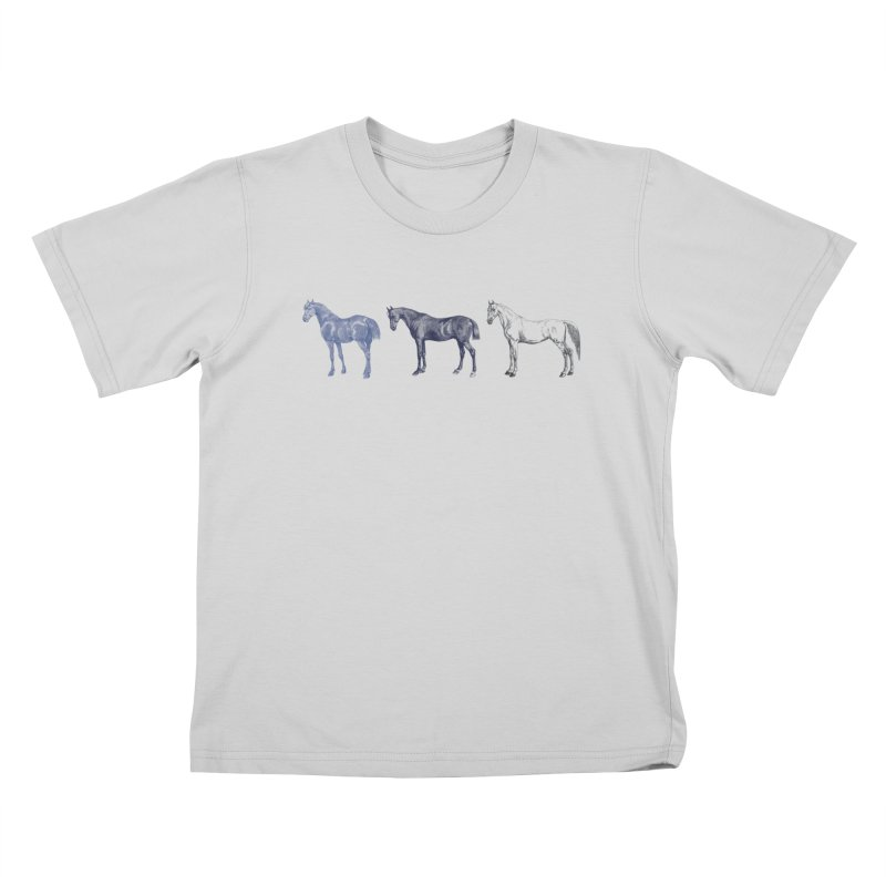 Hold Your Horses blue Kids T-Shirt by Mitchell Black's Artist Shop