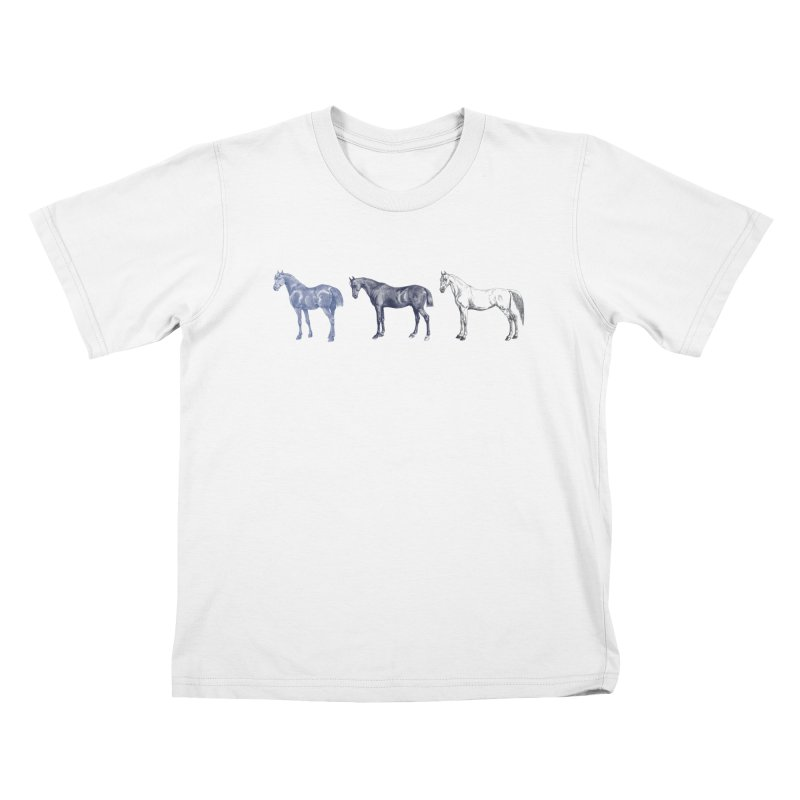 Hold Your Horses blue   by Mitchell Black's Artist Shop