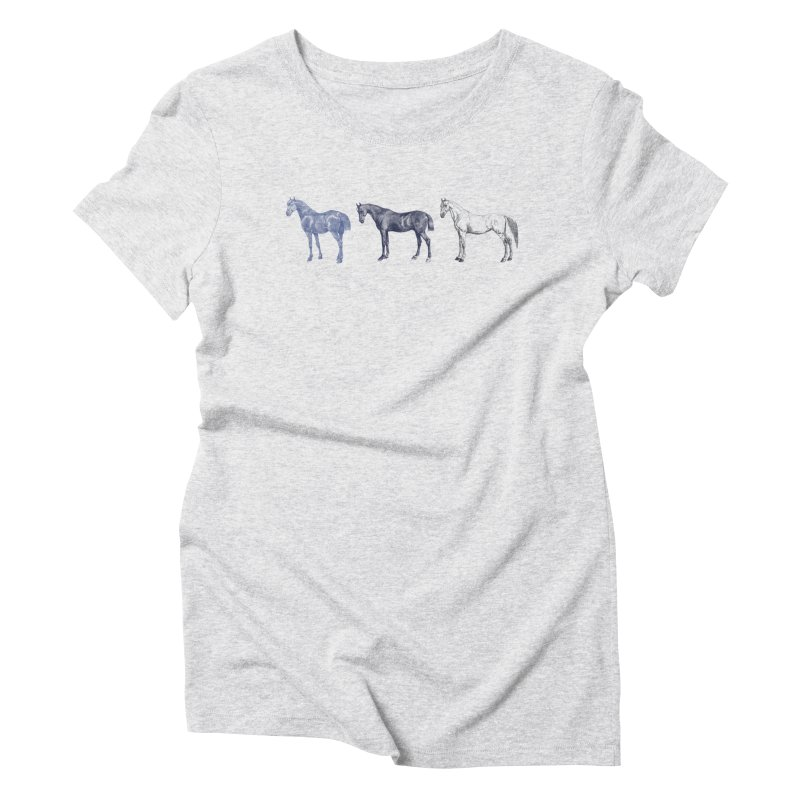 Hold Your Horses blue Women's Triblend T-Shirt by Mitchell Black's Artist Shop