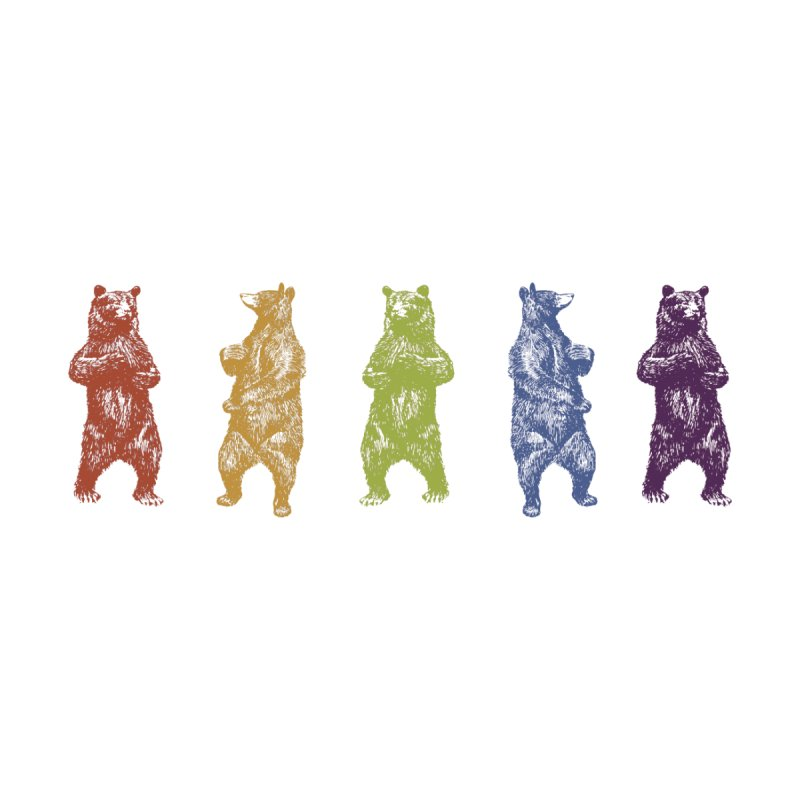 Dancing Rainbow Bears None  by Mitchell Black's Artist Shop