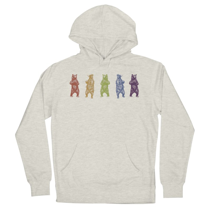 Dancing Rainbow Bears Men's French Terry Pullover Hoody by Mitchell Black's Artist Shop