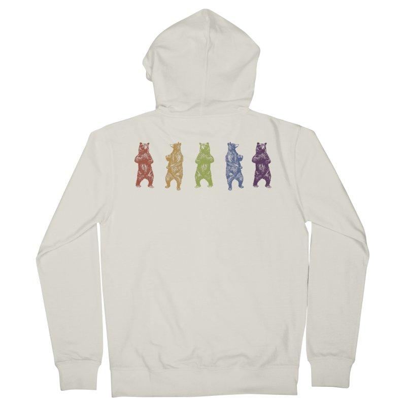 Dancing Rainbow Bears Men's Zip-Up Hoody by Mitchell Black's Artist Shop